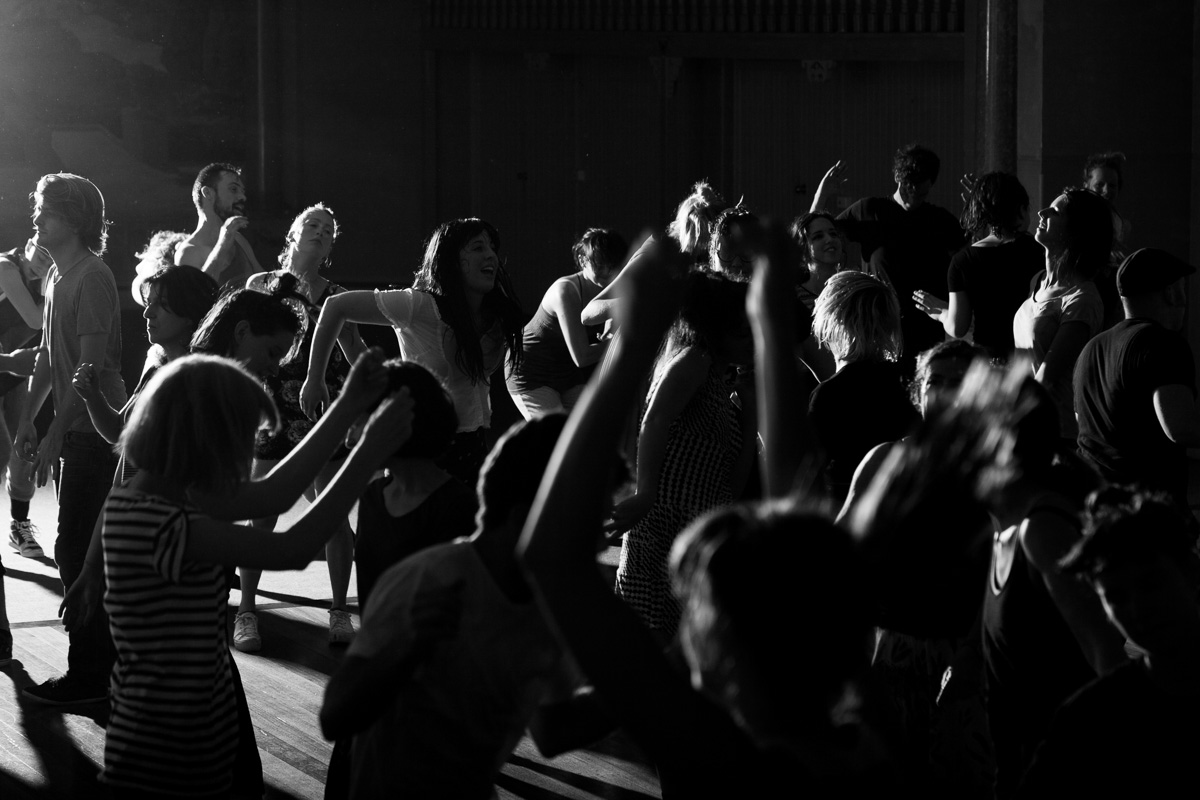The introspective environment of No Lights No Lycra shifts the focus from what is 'outside' towards the innate enjoyment of dancing, even for just a short time. Photograph by Tom Ross.